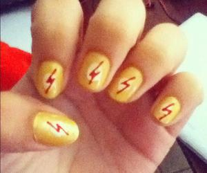 nail art, nails, and the flash image