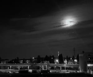 black and white, blacknwhite, and night image