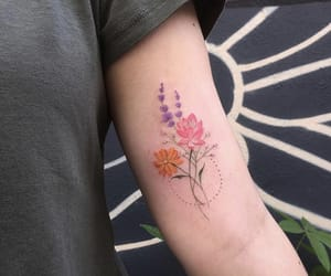 Tattoos, cute, and flower image