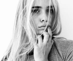 beauty, girl, and black and white image