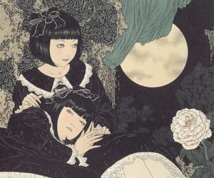 art, Takato Yamamoto, and moon image