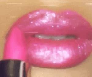 90s, fashion, and lip gloss image