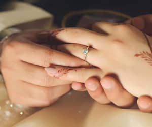 couple, rings, and hands image
