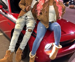 couple, fashion, and hair image