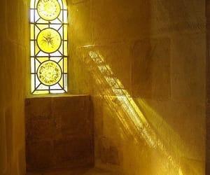 light, yellow, and window image