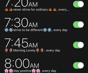stay positive, alarms, and be different image