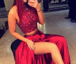 long prom dress, party dress cheap, and party dress two piece image