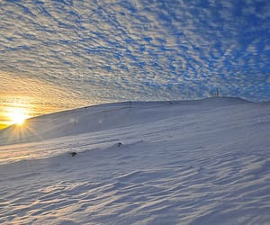iceland, snow, and mountain image