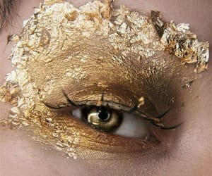 gold, aesthetic, and eyes image