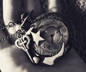 black and white, charms, and key image