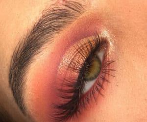 eyes, makeup, and orange image