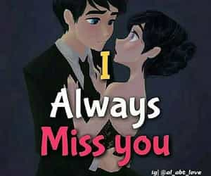 missing, i miss u, and love image