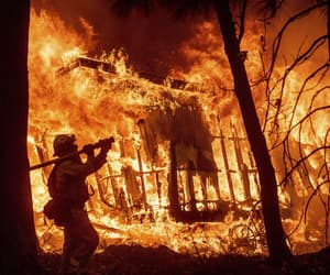 fire and firefighter image
