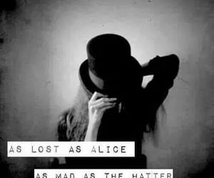 alice in wonderland, personality, and we are all mad here image