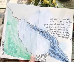 journal, painting, and bible verse image