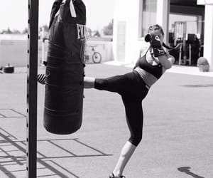 black and white, boxing, and fitness image