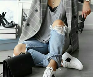 blazer, chic, and sneaker image