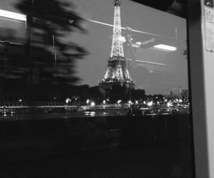 black and white, paris, and travel image