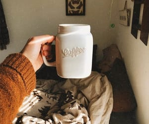 autumn, bedroom, and coffee image