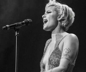 black and white, singer, and halsey image