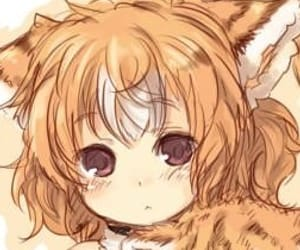 anime, cat ears, and cat girl image