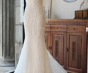 lace, longsleeve, and bridalgowns image