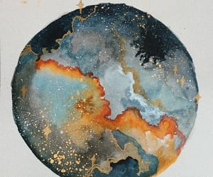 art, paint, and planet image