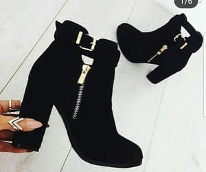 black, nails, and boots image
