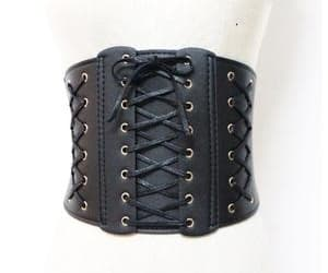 belt, corset, and leather image