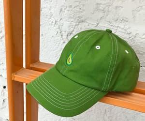 avocado, green, and cap image