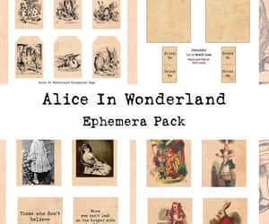 alice in wonderland, printable cards, and printable journal image