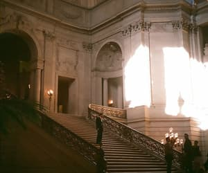 architecture, stairs, and light image