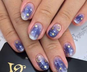 nails, moon, and nail art image