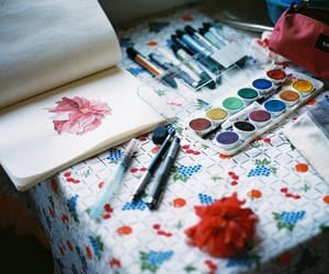 art, flower, and colorful image