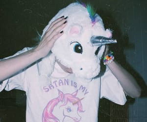 unicorn, grunge, and aesthetic image