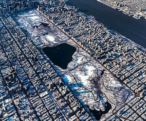 Central Park, city, and magic image