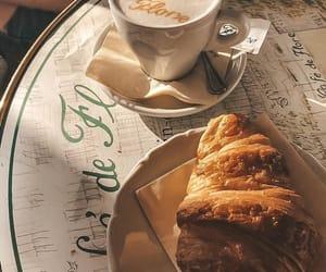 cafe de flore, coffee, and croissant image