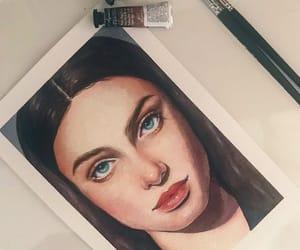 drawing, eyebrow, and hair image