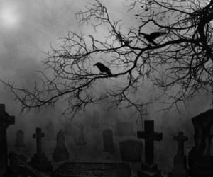 black, black&white, and cementery image