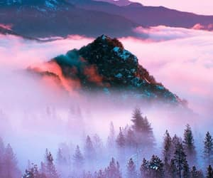 mountains, nature, and purple image