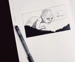 art, drawing, and hobbit image