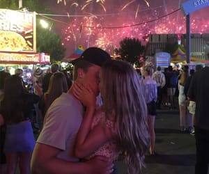 alternative, couple, and fireworks image