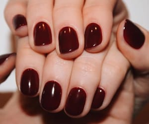 burgundy, dark red, and hands image
