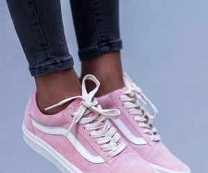 pink, sneakers, and vans image