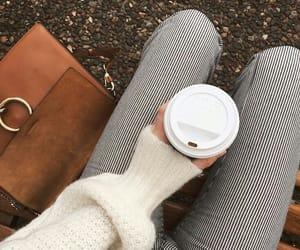 autumn, coffee, and fashion image