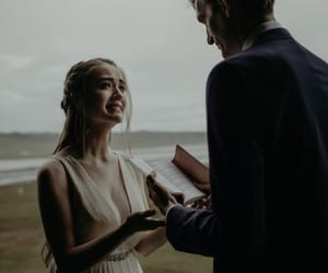 bride, couple, and emotional image