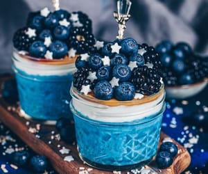 food, blackberry, and blueberry image