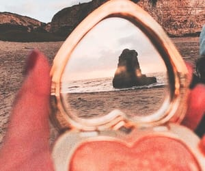 beach, aesthetic, and mirror image