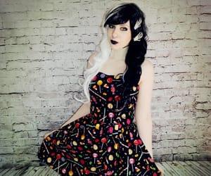 alt girl, goth, and Halloween image