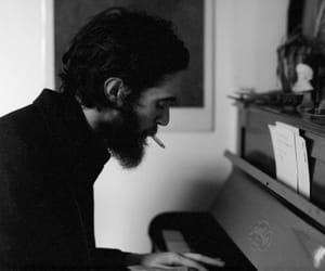 piano, boy, and black image